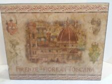Friends Fiore Di Toscana Wood Wall Plaque 10x8x2