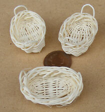 Bambus Korb 7cm x 5.5cm x 1.4cm Tief Tumdee Puppenhaus Miniatur Zubehör U