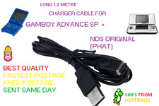 Gameboy Advance SP and Nintendo DS    1.2m USB  Charger power Cable Cord