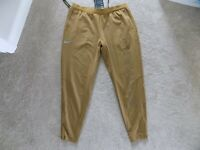 NEW MENS L LARGE NIKE PHENOM 2 RUNNING PANTS JOGGERS AIR MAX BEIGE RED AT7624