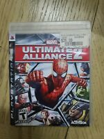 Marvel Ultimate Alliance 2 Black Lbl Sony Playstation 3 PS3 LN perfect COMPLETE!