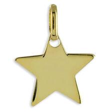 ECHT GOLD *** Schlichter Stern Anhänger 12 mm