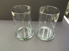 2 Clear 10 1/2 in. Tall Glass  Pillar Candle Hurricane Globes with Glass Bases