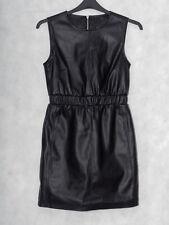 """Fabulous Sexy Black PVC Faux Leather Dress Size 10 UK, 34"""" Bust L33"""", W28/30"""""""