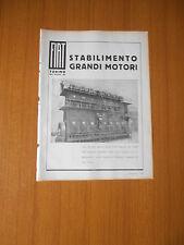 1935 FIAT STABILIMENTO GRANDI MOTORI DIESEL MARINO 3200 HP NAVE J A MOWINCKEL