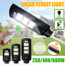 250/480/680W Solar Street Light PIR Motion Sensor Outdoor Path Wall Lamp Remote