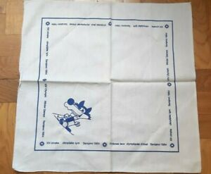SARAJEVO 1984 OLYMPIC GAMES LOGO VUCKO SKI MASCOT SCARF OLYMPICS OLYMPIAD SOUVEN