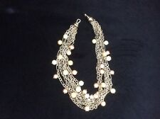 David Yurman 18k Yellow Gold, Sterling Silver, & Pearl Multi-Strand Necklace