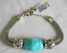 Brighton TRADE WINDS NWT Silver & Turquoise Bracelet