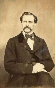 ANTIQUE CDV PHOTO DISTINGUISHED VICTORIAN MAN ID'd HARRISON BATAHILDEN (sp?)