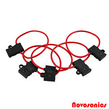 Novosonics NS-ATCFH12-5 12 GA ATC Fuse Holder 12 Volt Waterproof -5 Pack