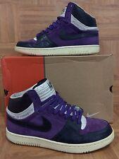 RARE!🔥 Nike Dunk Air Court Force Hi 1 STUSSY Purple Obsidian Sail 312270-542 13