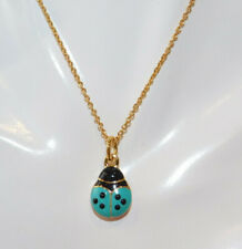 Joan Rivers Interchangeable Enamel Ladybug Pendant Gold Chain Necklace 7f 27