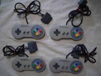 Nintendo Super Famicom 4 controller set SNES SFC Japan F/S
