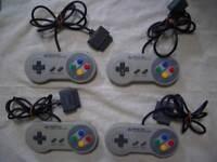 Nintendo Super Famicom 4 controller set SNES SFC Japan F/S