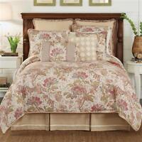 New Croscill Camille Jacobean Multi Queen Comforter Shams & Bedskirt Set 4pc