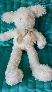 "Jellycat lamb sheep soft hug Toy comforter J1122 approx 11"" bow"