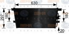 Kondensator, Klimaanlage für Klimaanlage HELLA 8FC 351 037-431