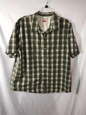 CRB Canyon River Blues XL Short Sleeve Green Plaid Shirt
