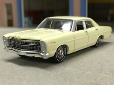 1/64 GREENLIGHT YELLOW 1967 FORD CUSTOM W/ REAR HITCH