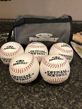 New Official Power Bolt Pb-2 Softballs Red Stitch Lot of 5 With Case