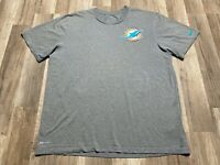 Auth Nike Mens Dri fit NFL Miami Dolphins Small Logo On Field Gray Issued Shirt