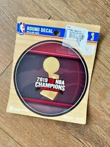 Toronto Raptors 2019 NBA Finals Champions Basketball Collectors Round Decal