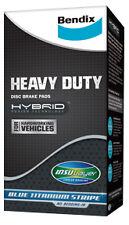Bendix Rear Heavy Duty Brake Pad FOR Hyundai i30 1.3 CRDi,1.6 CRDi,2.0L 07-on