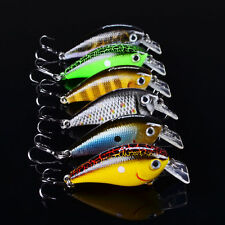 High Quality 6pcs Lot Fishing lures 5.6cm/6g Crankbait Plastic Crank Bait Hook