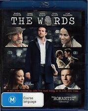 THE WORDS - BLU-RAY REGION B (2013) Bradley Cooper LIKE NEW - FREE POST