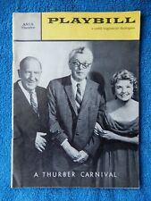 A Thurber Carnival - ANTA Theatre Playbill - September 26th, 1960 - Paul Ford