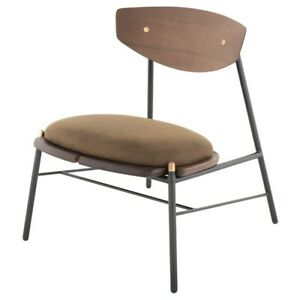 """24.8"""" W Occasional Chair Jin Green Leather Seat Solid Steel Framework"""