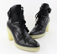 Alexander Wang Black Leather Ivory Rubber Platform Heel Boot Shoe Size 41 11