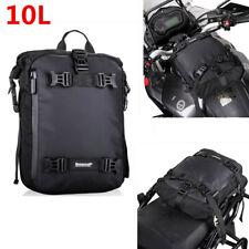 Black 10L Motorcycle Gas Tank Bag Rear Seat Luggage Tail Saddle Shoulder Bag