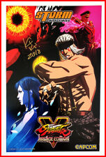 STREET FIGHTER V Signed POSTER Art Print KIKI Lead Artist SFV Game SDCC Cacpom