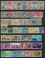 2 scans-Collection of mixed mint/good used Nigeria stamps.