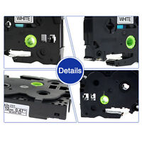 New Label Tape Compatible for Brother TZ TZE131 TZE731 TZE531 etc P-Touch 12mm