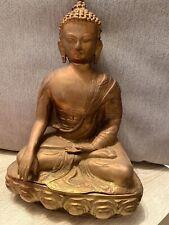 buddha Figur ca.34cm Messing Bronze Antik Alt Religion Hinduismus