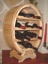 Botellero para Vino Madera Recipiente 12 Botellas Natural BAR Soporte Barril
