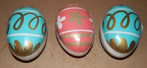 """Easter Party Paper Eggs Open Up 3 Each 5"""" x 3"""" Celebrate It 154K"""