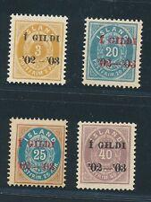 Iceland 1902, Mi 23 B,30-32 B MNH, fine