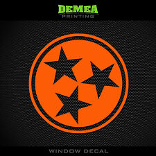 "Tennessee Vols - Flag - NCAA - Orange Vinyl Sticker Decal 5"""