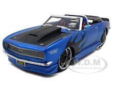 1968 CHEVROLET CAMARO SS CONVT BLUE 1:24 PRO RODZ MODEL CAR BY MAISTO 31089