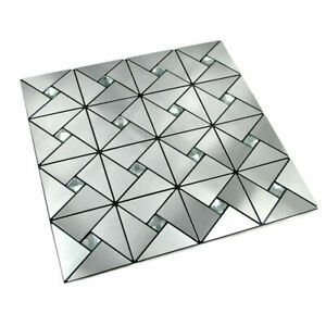 Self-adhesive Mosaic Aluminium Tile Diamond Kitchen Bathroom Backsplash
