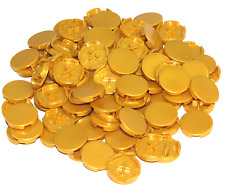 Lego Lot of 100 New Pearl Gold Tiles Round 2 x 2 Bottom Stud Holder Smooth Flat