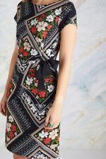 Black Floral Scarf Print Dress