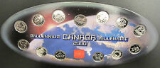 CANADA 2000 MILLENNIUM  25 CENTS SETS 13 COINS WITH ORIGINAL FOLDER