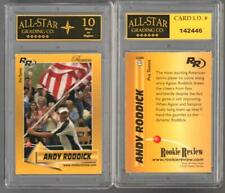 Rare Andy Roddick 2002 GOLD ROOKIE REVIEW Tennis Card GRADED ASG 10 MINT