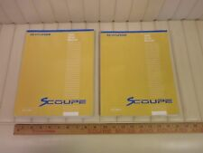 1995 HYUNDAI SCOUPE Factory Shop Service Manual Set 2-Volume