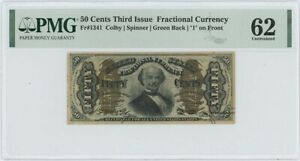 Third Issue 50 Cents Fractional Currency FR#1341 PMG 62